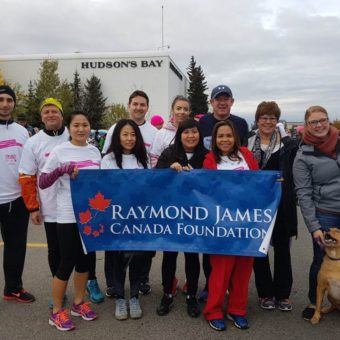 Calgary 2017 Run for the Cure, top row left to right: Don Jenkins, Brad Antoniuk, Geoff Richardson, Charity Miller, Doung Pinder, Sylvia Morrison