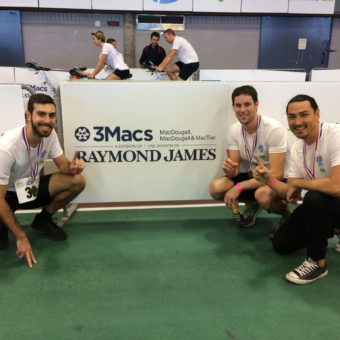 Montreal, QB Splash and Dash, left to right: Kyle Guaiani, Dr. Mark Dunn, Dr. Jamieson Clark