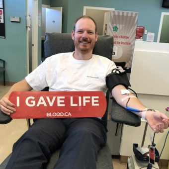 Canadian Blood Services, BC, Patrick Flint