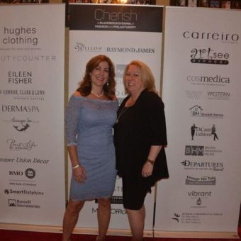 Cherish: A Glamorous Evening of Fashion and Philanthropy, Kirsty Thomson & Michelle Lesage (General Manager of the Oak Bay Beach Hotel)