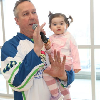 Ontario ErinoakKids, Skate 100, Peter Kahnert and his granddaughter Florence