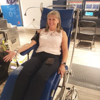 2019 RJ Cares Canadian Blood Services - Lynn Perry