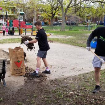 2019 RJ Cares Montreal - Parc Cleanup Aidan and Erik Moisan