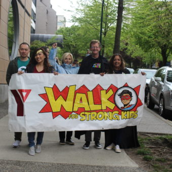 2019 RJ Cares Vancouver - YMCA Walk for Strong Kids (L-R) Benson Gotamco, Yvonne Kwan, Stephanie Schikkerling, Bruce Krutow, Sue Sammy