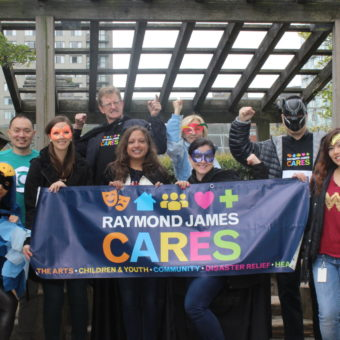 2019 RJ Cares Vancouver - YMCA Walk for Strong Kids (Front L-R) Tina Hu, Megan Mandryk, Sue Sammy, Marie-Noelle Savoie, Yvonne Kwan (Back L-R) Benson Gotamco, Bruce Krutow, Stephanie Schikkerling, Paul Lau