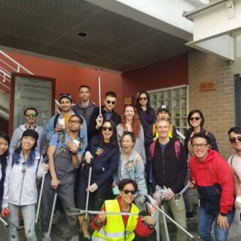 2019 RJ Cares Vancouver - Kitsilano Neighborhood Cleanup Top left David Abelseth, 4th from the left Carmen Tsang, BottomTina Hu