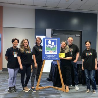 2019 RJ Cares Vancouver - ONE to ONE Literacy Spelling Bee - Tina Hu, Tara Hassan, Cheryl Picot, Annie Lau, Benson Gotamco, Betty Luk