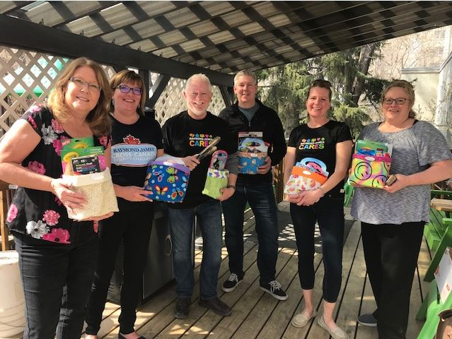 2019 RJ Cares Saskatoon - Interval House of Saskatoon L-R Susan Tenetuik, Caren Melby, Dave Hassell, Chad Woolsey, Tammie Atchison, Martha Loewen (Missing from photo Brent Misener, Frank Lukowich, Greg Beswick, Mike Reimer, Sheryl Max