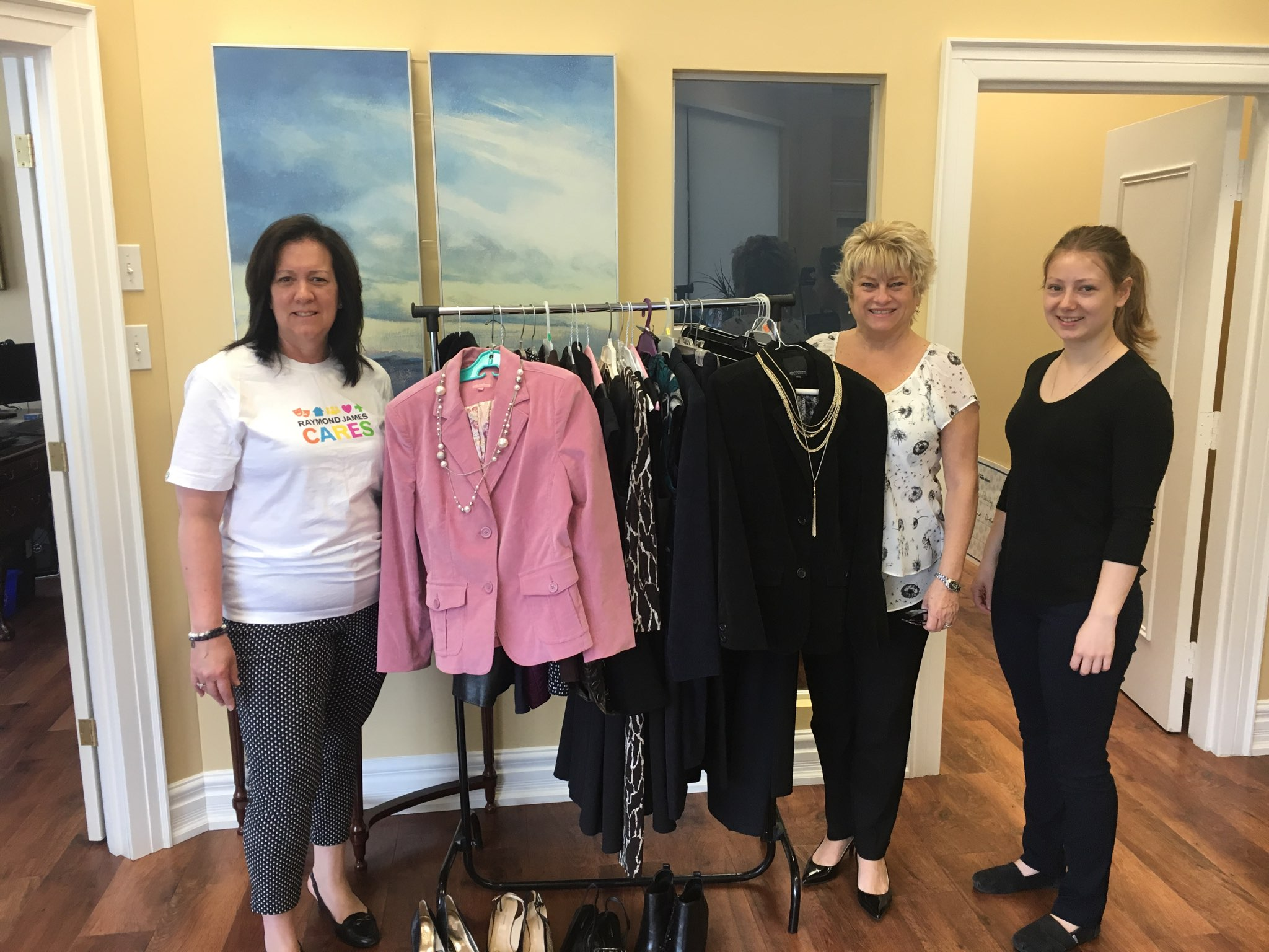 2019 RJ Cares Barrie, ON - Dress for Success Clothing Drive Laura Hemsworth, Joanne Parkinson, Ella Hedley